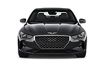 Car photography straight front view of a 2020 Genesis G70 Prestige 4 Door Sedan Front View