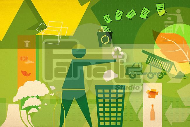 Illustrative representation of recycling