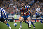 Sheffield Wednesday 2 Crystal Palace 2, 02/05/2010. Hillsborough. Championship. Crystal Palace's Alan Lee holds off a Sheffield Wednesday marker at Hillsborough during the crucial last-day relegation match. The match ended in a 2-2 draw which meant Wednesday were relegated to League 1. Crystal Palace remained in the Championship despite having been deducted 10 points for entering administration during the season. Photo by Colin McPherson.