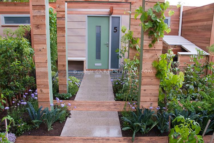 Front Yard Vegetable Garden & House