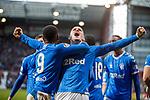 26.01.2020 Hearts v Rangers: Ryan Kent celebrates his goal