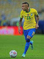 10th July 2021, Estádio do Maracanã, Rio de Janeiro, Brazil. Copa America tournament final, Argentina versus Brazil;  Éverton of Brazil