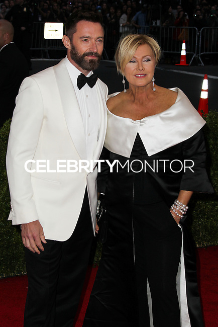 """NEW YORK CITY, NY, USA - MAY 05: Hugh Jackman, Deborra-Lee Furness at the """"Charles James: Beyond Fashion"""" Costume Institute Gala held at the Metropolitan Museum of Art on May 5, 2014 in New York City, New York, United States. (Photo by Xavier Collin/Celebrity Monitor)"""
