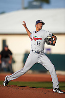 Fort Myers Miracle starting pitcher Felix Jorge (13) delivers a pitch during a game against the Daytona Tortugas on April 17, 2016 at Jackie Robinson Ballpark in Daytona, Florida.  Fort Myers defeated Daytona 9-0.  (Mike Janes/Four Seam Images)
