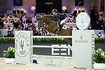 Jacqueline Lai of Hong Kong riding Basta competes in the Hong Kong Jockey Club Trophy during the Longines Masters of Hong Kong at the Asia World Expo on 09 February 2018, in Hong Kong, Hong Kong. Photo by Ian Walton / Power Sport Images
