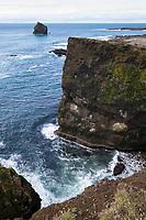 Küste, Felsküste, Steilküste, Atlantischer Ozean, Eismeer, Halbinsel Reykjanes, Reykjanes-Halbinsel, Island, Iceland, coast, ocean