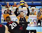 Toronto, Ontario, August 11, 2015. Canadian me play Mexico in the sitting volleyball during the 2015 Parapan Am Games . Photo Scott Grant/Canadian Paralympic Committee