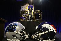 Endspiel zwischen den Denver Broncos und Carolina Panthers um die Vince Lombardi Trophy im Super Bowl 50 - Super Bowl 50 NFL Commissioner Pressekonferenz, Moscone Center San Francisco