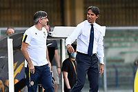 Ivan Juric coach of Hellas Verona and Simone Inzaghi coach of SS Lazio during the Serie A football match between Hellas Verona and SS Lazio at stadio Marcantonio Bentegodi in Verona (Italy), July 26th, 2020. Play resumes behind closed doors following the outbreak of the coronavirus disease. <br /> Photo Daniele Buffa / Image Sport / Insidefoto