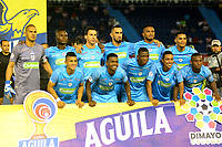 BARRANQUILLA-COLOMBIA, 22-09-2019: Jugadores de Jaguares de Córdoba, posan para una foto, antes de partido entre Atlético Junior y Jaguares de Córdoba, de la fecha 12 por la Liga Águila II 2019, jugado en el estadio Metropolitano Roberto Meléndez de la ciudad de Barranquilla. / Players of Jaguares de Cordoba, pose for a photo, prior a match between Atletico Junior and Jaguares de Cordoba, of the 12th date for the Aguila Leguaje I 2019 played at the Metropolitano Roberto Melendez Stadium in Barranquilla city, Photo: VizzorImage / Alfonso Cervantes / Cont.