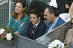 Felipe Juan Froilan de Todos los Santos and his phater Alvaro de Marichalar during Madrid Open Tennis 2015 Final match.May, 10, 2015.(ALTERPHOTOS/Acero)