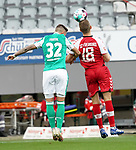 17.10.2020, Schwarzwald Stadion, Freiburg, GER, 1.FBL, SC Freiburg vs SV Werder Bremen<br /> <br /> im Bild / picture shows<br /> Marco Friedl (Bremen), Nils Petersen (Freiburg)<br /> <br /> Foto © nordphoto / Bratic<br /> <br /> DFL REGULATIONS PROHIBIT ANY USE OF PHOTOGRAPHS AS IMAGE SEQUENCES AND/OR QUASI-VIDEO.