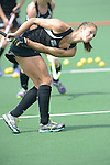 The Hague, Netherlands, June 02: Petrea Webster #6 of New Zealand warms up before the field hockey group match (Group A) between Korea and New Zealand´s Black Sticks on June 2, 2014 during the World Cup 2014 at GreenFields Stadium in The Hague, Netherlands. Final score 1:0 (1:0) (Photo by Dirk Markgraf / www.265-images.com) *** Local caption ***