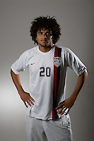 Andre Akpan. U20 men's national team portrait photoshoot before the start of the FIFA U-20 World Cup in Canada. June 22, 2007.