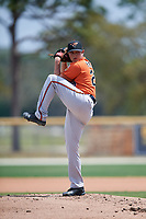 Baltimore Orioles pitcher Gray Fenter (29) during a Minor League Spring Training game against the Boston Red Sox on March 20, 2018 at Buck O'Neil Complex in Sarasota, Florida.  (Mike Janes/Four Seam Images)
