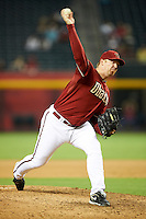 Arizona Diamondbacks relief pitcher J.J. Putz #40 during a National League regular season game against the Colorado Rockies at Chase Field on October 3, 2012 in Phoenix, Arizona. Colorado defeated Arizona 2-1. (Mike Janes/Four Seam Images)