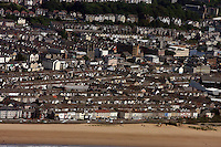 Aerial view of the Sandfields Swansea