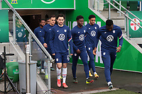 BELFAST, NORTHERN IRELAND - MARCH 28: USMNT players including Luca de la Torre #12 of the United States before a game between Northern Ireland and USMNT at Windsor Park on March 28, 2021 in Belfast, Northern Ireland.