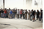 SPECTATORS, BOTH CROWD & MILITARY, ENJOY WATCHING the  Tecate SCORE 250 off-road auto competition