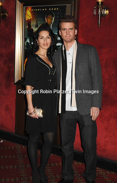 """Armando Riesco and wife Shirley Rumierk.arriving to The World Premiere of """"National Treasure: Book of Secrets"""" on December 13, 2007 at The Ziegfeld Theatre. .Robin Platzer, Twin Images"""