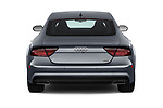 Straight rear view of a 2018 Audi A7 Premium Plus 5 Door Hatchback stock images