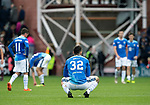 St Johnstone v Hearts…29.09.18…   Tynecastle     SPFL<br />A disappointed Tony Watt and team mates at full time<br />Picture by Graeme Hart. <br />Copyright Perthshire Picture Agency<br />Tel: 01738 623350  Mobile: 07990 594431