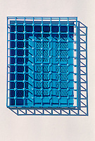 Tunisia, Sidi Bou Said.  Window Grill.  Blue and White are the Traditional Colors of Houses in Sidi Bou Said.