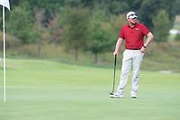 The Razorback's Luke Long waits to putt Wednesday Oct. 6, 2021 at the Blessings Collegiate golf tournament in Johnson. Visit nwaonline.com/210001007Daily/  (NWA Democrat-Gazette/J.T. Wampler)