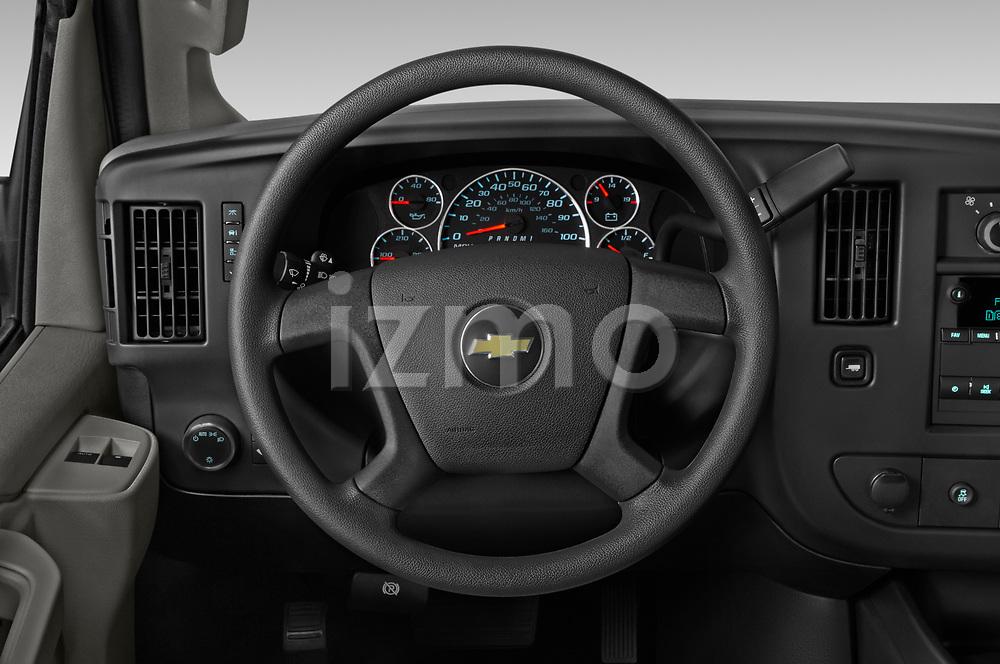 Car pictures of steering wheel view of a 2020 Chevrolet Express-Cargo WT 4 Door Cargo Van Steering Wheel