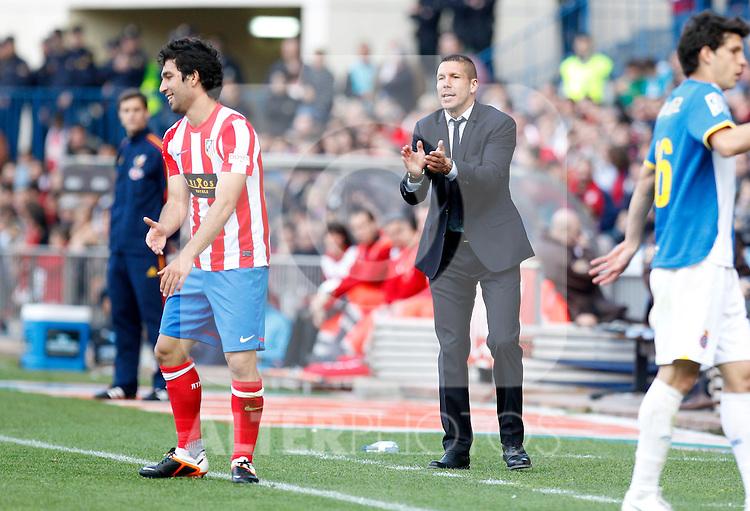 Madrid (14/04/2012).- Estadio Vicente Calderon.Liga BBVA.Atletico de Madrid-Espanyol.Diego Simeone...Photo: Alex Cid-Fuentes / ALFAQUI..