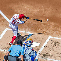 20 May 2018: Washington Nationals third baseman Anthony Rendon at bat against the Los Angeles Dodgers at Nationals Park in Washington, DC. The Dodgers defeated the Nationals 7-2, sweeping their 3-game series. Mandatory Credit: Ed Wolfstein Photo *** RAW (NEF) Image File Available ***