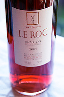 Bottle of Domaine Le Roc Cuvee La Saignee rose Fronton Haut-Garonne France