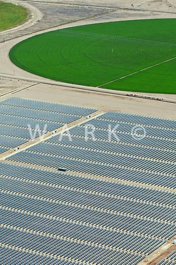 San Luis Valley, Colorado crop circles. Solar power plant. August 2011