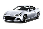 2017 Subaru BRZ Sport Premium 2 Door Coupe angular front stock photos of front three quarter view
