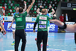 FRISCH AUF! Goeppingen feiert den Sieg beim Spiel in der Handball Bundesliga, Frisch Auf Goeppingen - Fuechse Berlin.<br /> <br /> Foto © PIX-Sportfotos *** Foto ist honorarpflichtig! *** Auf Anfrage in hoeherer Qualitaet/Aufloesung. Belegexemplar erbeten. Veroeffentlichung ausschliesslich fuer journalistisch-publizistische Zwecke. For editorial use only.