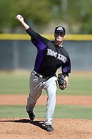 Colorado Rockies pitcher Dan Houston (45) during an instructional league game against the Los Angels Angels of Anaheim on September 30, 2013 at Tempe Diablo Stadium Complex in Tempe, Arizona.  (Mike Janes/Four Seam Images)
