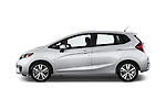 Car Driver side profile view of a 2017 Honda Fit EX 5 Door Hatchback Side View