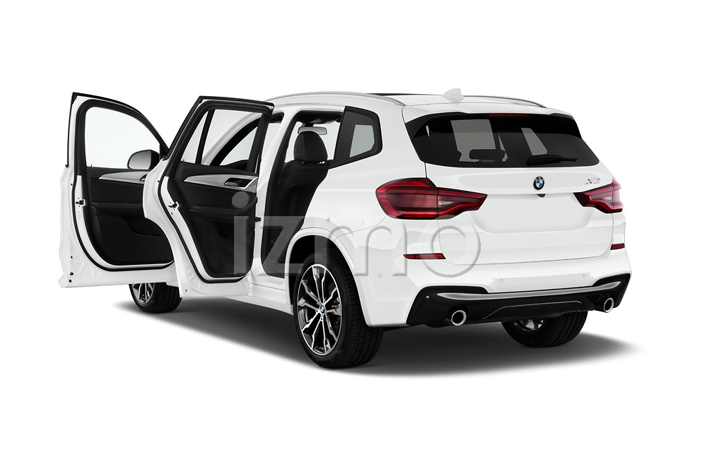 Car images close up view of a 2019 BMW X3 M Sport 5 Door SUV doors