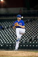 AZL Cubs relief pitcher Nathan Sweeney (47) delivers a pitch during a game against the AZL Brewers on August 6, 2017 at Sloan Park in Mesa, Arizona. AZL Cubs defeated the AZL Brewers 8-7. (Zachary Lucy/Four Seam Images)