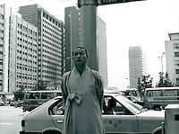 Mönch in Seoul, Korea 1986