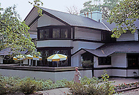 F.L. Wright: Bradley House. Kankakee, Ill. 1900. East elevation from N.E.