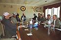 Iraq 1999.Last meeting before the beginning of the 11th congress of KDP in Salaheddin: Franco Hariri, Mulazem Ali,Roj Shawess, Fazel Mirani, Sami Abdul Rahman, Masoud Barzani, Ali Abdallah, Azad Berwari......Irak 1999.Derniere reunion avant l'ouverture du 11th congres du PDK a Salaheddin avec les personnalites du parti: Franco Hariri, Mulazem Ali, Roj Shawess, Fazel Mirani, Sami Abdul Rahman, Masoud Barzani, Ali Abdallah, Azad Berwari...