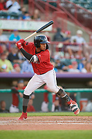 Erie SeaWolves Jose Azocar (24) at bat during an Eastern League game against the Richmond Flying Squirrels on August 28, 2019 at UPMC Park in Erie, Pennsylvania.  Richmond defeated Erie 6-4 in the first game of a doubleheader.  (Mike Janes/Four Seam Images)