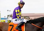 JULY 24, 2021: Umberto Rispoli after winning a race at the Del Mar Fairgrounds in Del Mar, California on July 24, 2021. Evers/Eclipse Sportswire/CSM
