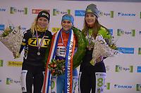 SCHAATSEN: ENSCHEDE:01-01-2020, IJsbaan Twente, NK Marathonschaatsen, winnaar Irene Schouten, Marijke Groenewoud (2), Manon Kamminga (3), ©foto Martin de Jong