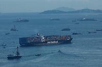 Ships near the container terminal in Kwai Chung, Hong Kong..04-JUL-03
