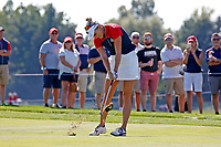 6th September 2021: Toledo, Ohio, USA;  Lexi Thompson of Team USA hits her approach shot on the 17th hole during the singles matches of the Solheim Cup on September 6, 2021 at Inverness Club in Toledo, Ohio.