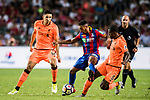 Crystal Palace forward Keshi Anderson (C) fights for the ball with Liverpool FC players during the Premier League Asia Trophy match between Liverpool FC and Crystal Palace FC at Hong Kong Stadium on 19 July 2017, in Hong Kong, China. Photo by Weixiang Lim / Power Sport Images