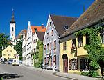 Germany, Bavaria, Upper Bavaria, Ammer Lake, Diessen: centre, residential buildings