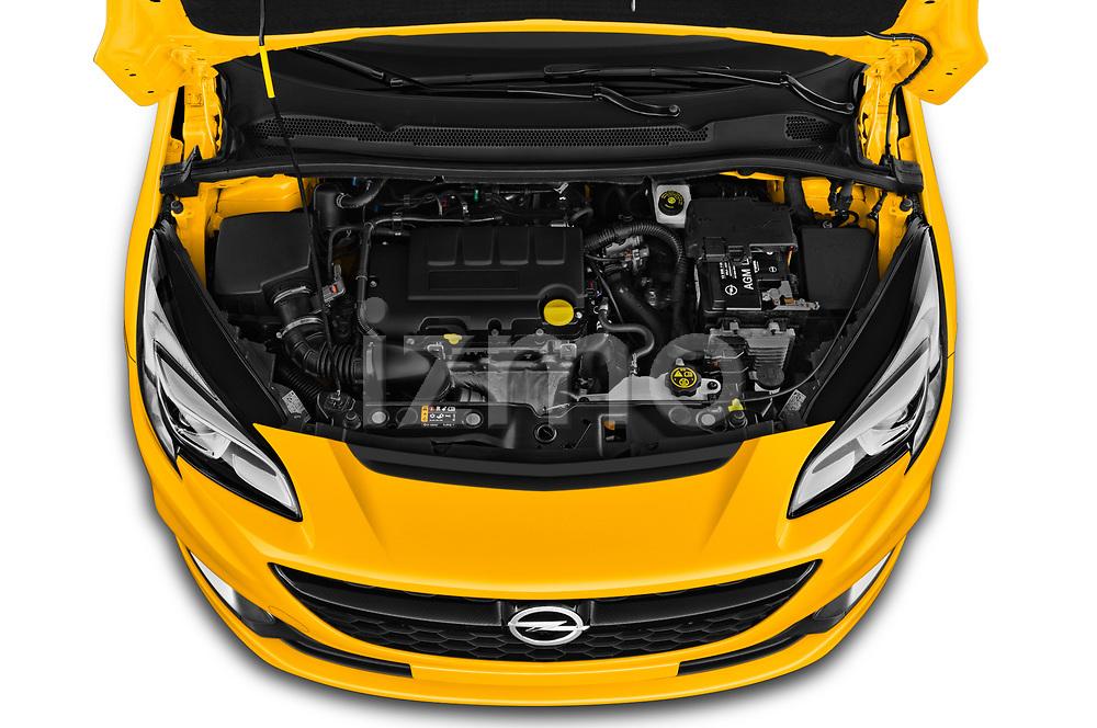 Car Stock 2019 Opel Corsa GSI 3 Door Hatchback Engine  high angle detail view